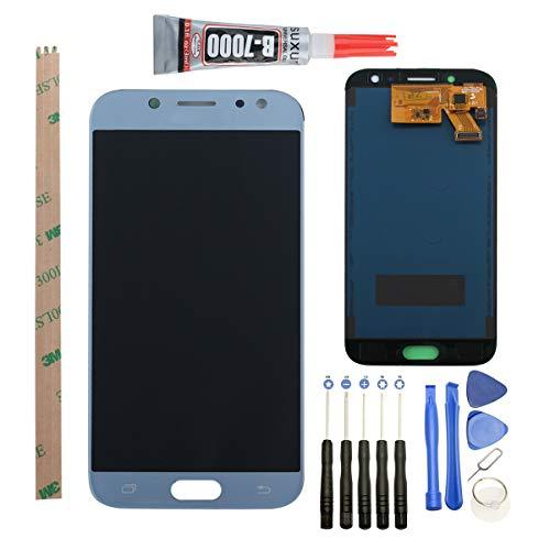 YWL-OU Reemplazo de Pantalla para Samsung Galaxy J5 (2017) J530 SM-J530F LCD Display Digitalizador de Pantalla táctil +con un Conjunto de Herramientas (Azul)
