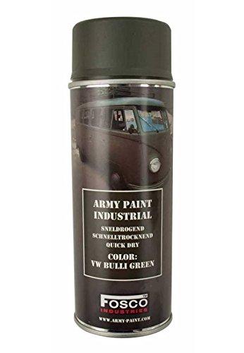 Bombe Di Vernice Militare Spray Fosco 400ml VW Bulli Green Verde Grigio Aerosol Grafiti Tag Decoration...