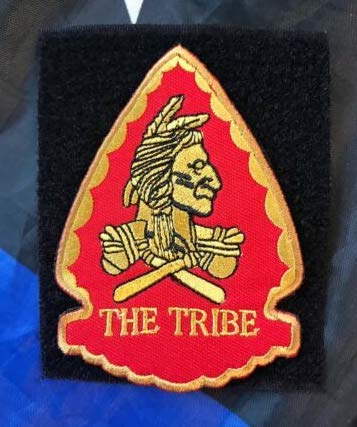 Tribe Navy Seal Team 6 DEVGRU Arrow Shape ST6 Squadron Embroidery Patch Military Tactical Clothing Accessory Backpack Armband Sticker Gift Patch Decorative Patch Embroidered Patch (red)