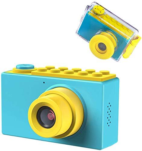 Kriogor Cámara Fotos Niño Impermeable, Digital Juguete Cámara 4 Zoom Digital 2 Pulgadas 8MP 1080P HD Niña Regalos Cumpleaños Navidad. (Tarjeta TF Incluida)