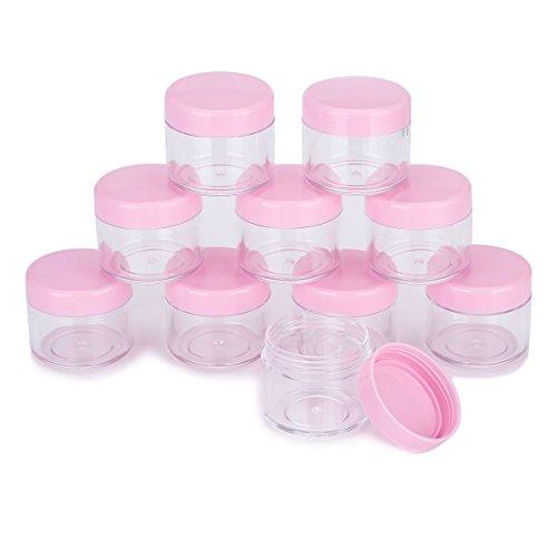 Tukistore 20 Pièces Cosmétique Conteneur Nail Art Jar Crème Pot Voyage Pots Jar Set avec Couvercle Crèmes Motif Maquillage De Stockage Strass Nail Glitter, 20g/20 ml