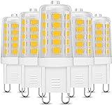 LE 3.5W G9 LED Lampe 400 Lumen, Kein Flackern und 3000k warmweiß G9 LED Leuchtmittel Ersatz 40W G9 Halogenlampe, 360° Abstrahlwinkel, nicht dimmbar 5er Pack