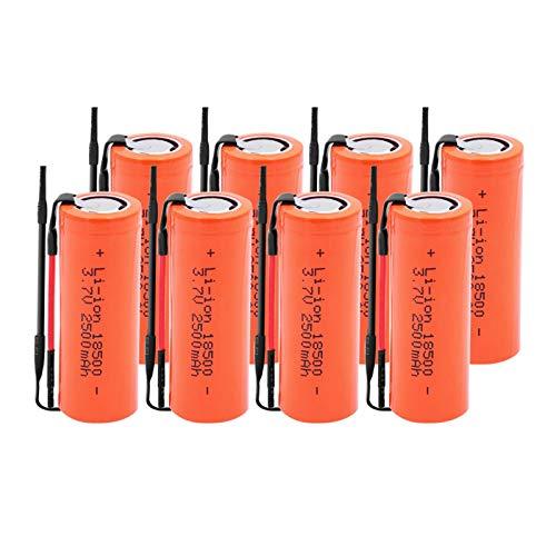 yfkjh 18500 Batería De ión De Litio De 3.7v 2500mah, BateríAs De Repuesto De La Linterna del Poder De Reserva 8pieces