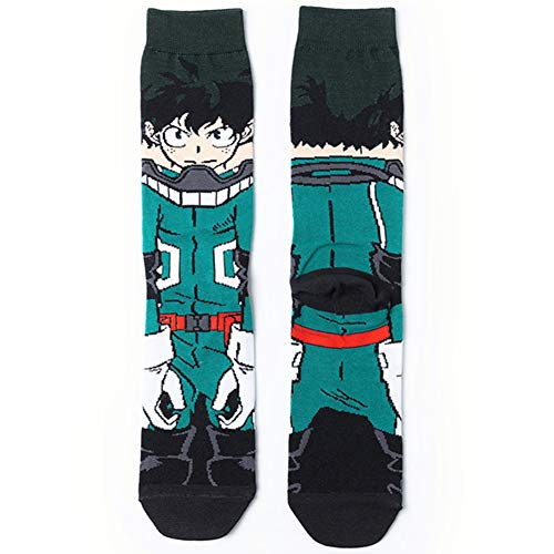 SGOT My Hero Academia Socken, Unisex Berühmte Japanische Anime Cartoon Socken für Anime Lovers(H01)