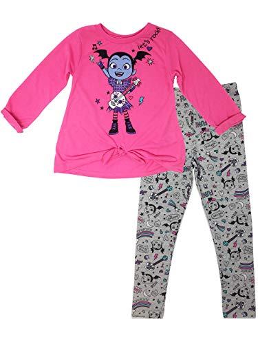 Disney Vampirina Toddler Girls Long Sleeve T-Shirt & Leggings Outfit Set, Pink (4T)