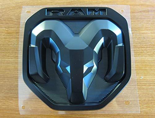 2019 Dodge RAM 1500 DT Black Satin Large RAM Tailgate Emblem NEW MOPAR OEM