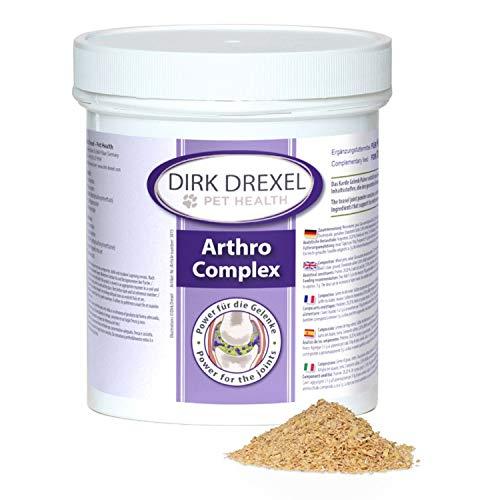 Dirk Drexel Arthro Komplex für Hunde 400g | vor während nach Einer behandelten Arthrose Arthritis Borreliose/Zeckenbiss | natürliche Ernährung bei Gelenkprobleme | Teufelskralle | Glucosamin & MSM