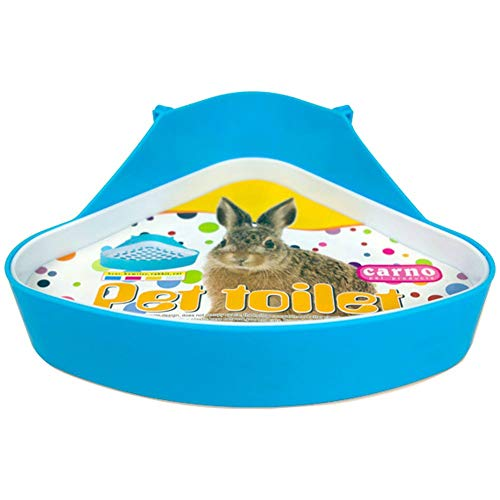 WYOK Plastic Pet Toilet, Small Animal Litter Tray Corner for Hamster Pig Rabbit Pee (Blue)