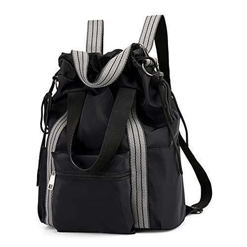 ZZDH Bolsas Gimnasia Cuerda Yoga Mat Bags Gym Fitness Gimnasio Hombro Mochila Deporte Bolsa SportString Deportes Gimnas para Mujer Retro (Color : Style 1 Black)