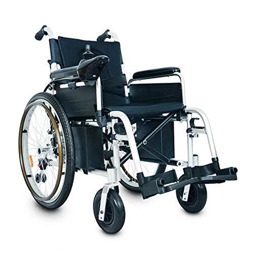 Ultraleichter, tragbarer Rollstuhl mit Elektromotor, leicht zu transportieren, 360 ° -Joystick-Steuerung | Leistungsstarker Doppelmotor-Rollstuhl