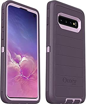 OtterBox Defender Series Rugged Case for Samsung Galaxy S10  ONLY  Case Only - Non-Retail Packaging - Purple Nebula - with Microbial Defense