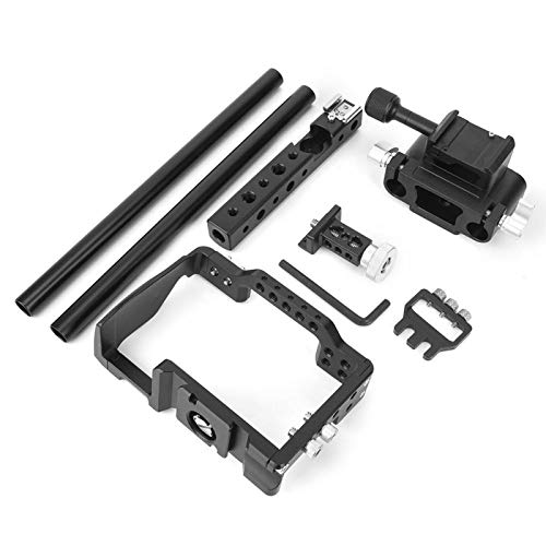 Sxhlseller C6 Camera Cage Kit Protective, Portable Top Handle Grip Stabilizer for A6000 A6300 A6500 Mirrorless Camera