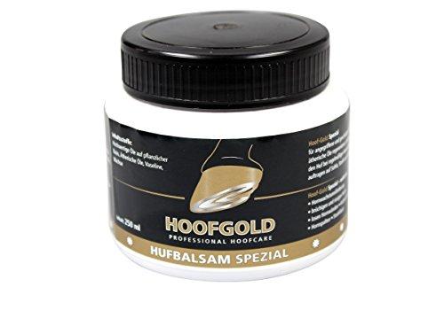 HOOFGOLD Bálsamo especial para pezuñas para caballos, grasa para el cuidado diario de pezuñas contra cascos quebradizos y secos, 250 ml
