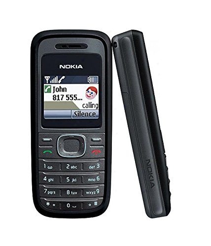 Nokia 1208 Black RH-105 - Telefono cellulare con tasti senza Simlock