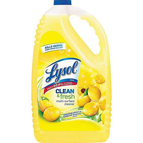 Lysol Clean & Fresh Multi-Surface Cleaner, Lemon & Sunflower, 144 Fl Oz