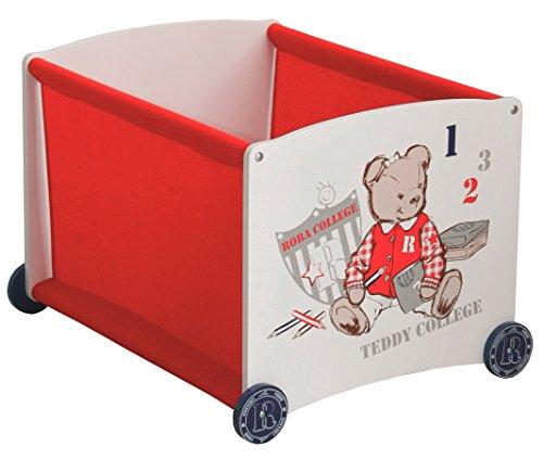 roba Stapelbox rot aus Puppenmöbel Serie \'Teddy College\'; Stapelbox Stoffeinhang in rot, Puppenzubehör, stapelbar