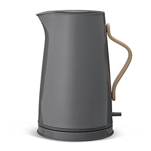 Emma Wasserkocher 1,2L glänzend, grau glänzend LxBxH 20x16x26cm 220-240V 50-60Hz 1850-2200W Buchenholzgriff mit EU-Stecker