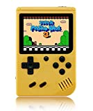 O RLY Handheld Spielkonsole Retro FC Plus Konsole 168 Retro Classic Spiel, 3 Zoll Bildschirm Mini Videospiel-Spieler (Gelb)
