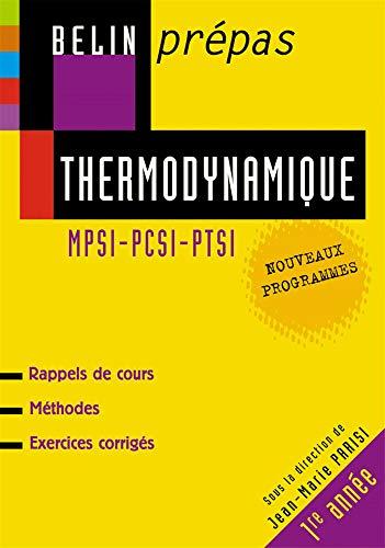 Thermodynamique MPSI-PCSI-PTSI
