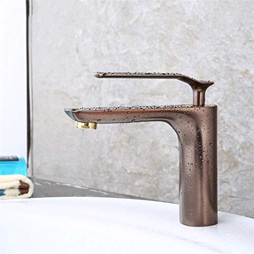 Grifo de baño de lujo, grifo de baño marrón, grifo de lavabo de color marrón, grifo de cobre puro