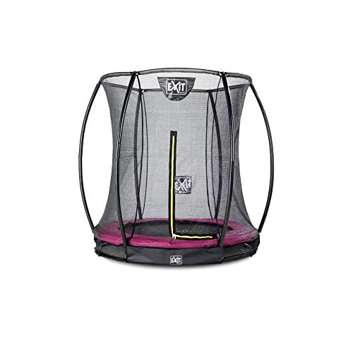 EXIT Silhouette ground trampoline ø183cm with safety net - pink