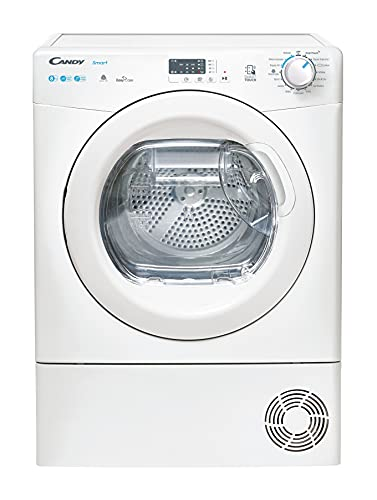 Candy Smart CSEH8A2LE Free Standing Heat Pump Tumble Dryer, Sensory Dry, A++, 8 Kg Load, White