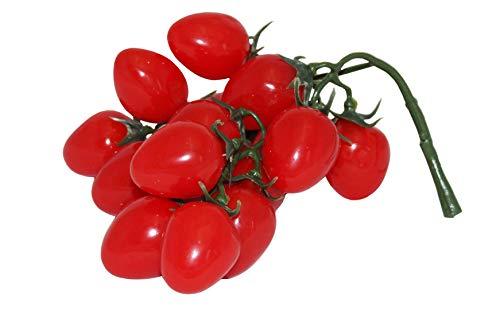 rukauf Juego de 16 piezas de frutas artificiales de color rojo para decoración