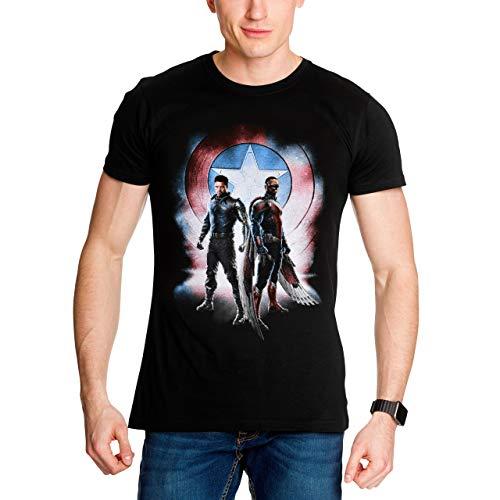 The Falcon and The Winter Soldier Camiseta de Hombre Marvel algodón Negro - XXL