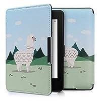 kwmobile 対応: Amazon Kindle Paperwhite ケース - 電子書籍カバー PUレザー - オートスリープ Reader 保護 アルパカモチーフデザイン