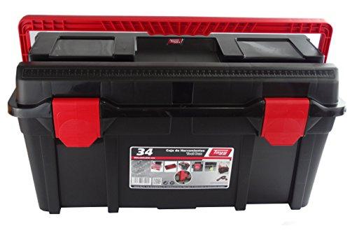 Tayg Caja herramientas plástico n. 34, negro, 580 x 285 x 290 mm