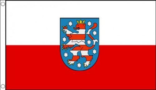 AZ FLAG Flagge THÜRINGEN 150x90cm - THÜRINGEN Fahne 90 x 150 cm - flaggen Top Qualität