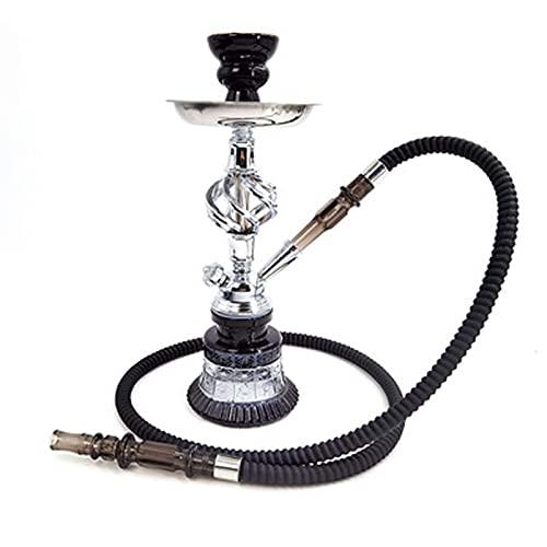 Khalil Mamoon - Juego de cachimba con gancho para cachimba portátil, con cuenco de gancho, bandeja de carbón, columna de humo y mangueras de humo para uso doméstico y de fiesta, tubo único