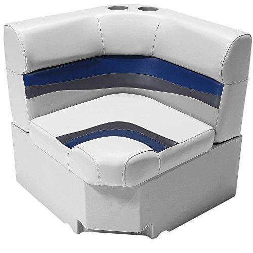 "DeckMate Classic 28"" Pontoon Corner Seats (Gray/Blue/Charcoal)"