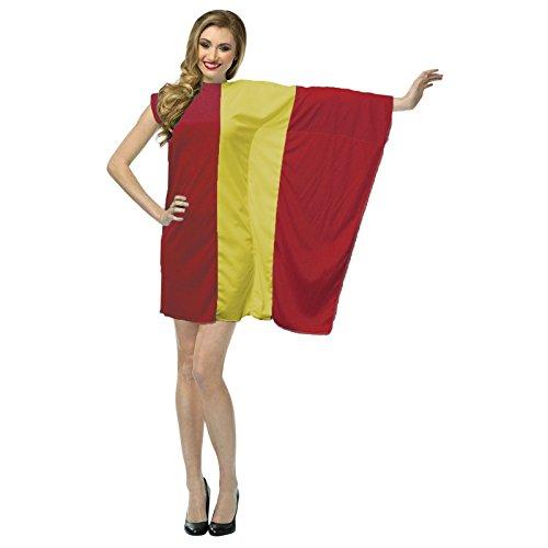 The Dragons Den Disfraz de bandera de Espaa para mujer, disfraz patritico espaol, defensor de los deportes [estndar]