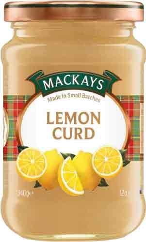 MacKays Lemon Curd, Zitronenmarmelade - 6x 340 g