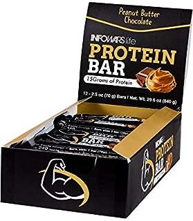 Infowars Life Protein Bars - Chocolate Peanut Butter (12 Bars)