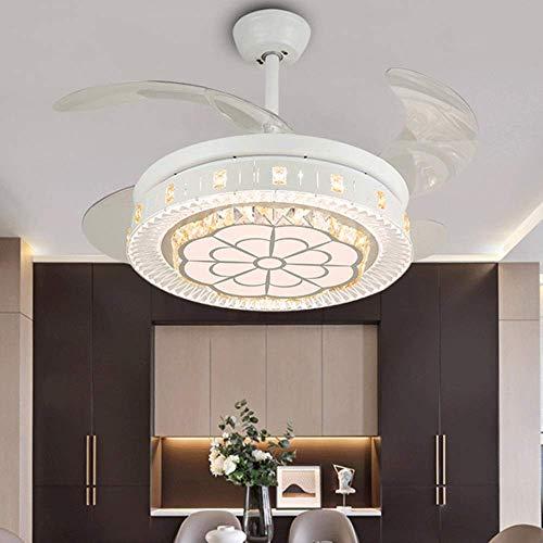 STZYY Luci del Ventilatore a soffitto a LED dimmerabili , Lampadario Moderno a Sospensione in Cristallo di Lusso con ventilatori Ventilatore a soffitto purificatore d'Aria Apparecchio di illuminaz
