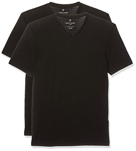 Pierre Cardin Herren T-Shirt 7000 2er Pack, Schwarz (Black 2000), Large