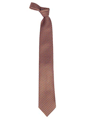 Ermenegildo Zegna Luxury Fashion Herren Z6W01F Rot Seide Krawatte | Jahreszeit Permanent
