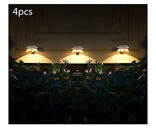 Las luces solares al aire libre, inteligente LED de control de iluminación de luz a prueba de agua, utilizado for la iluminación de la noche de puertas y vallas, luz blanca blanca, 2pcs (color: blanco