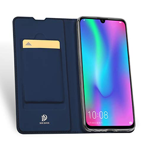 DUX DUCIS Hülle für Honor 10 Lite, Leder Flip Handyhülle Schutzhülle Tasche Case mit [Kartenfach] [Standfunktion] [Magnetverschluss] für Huawei Honor 10 Lite (Blau) - 4
