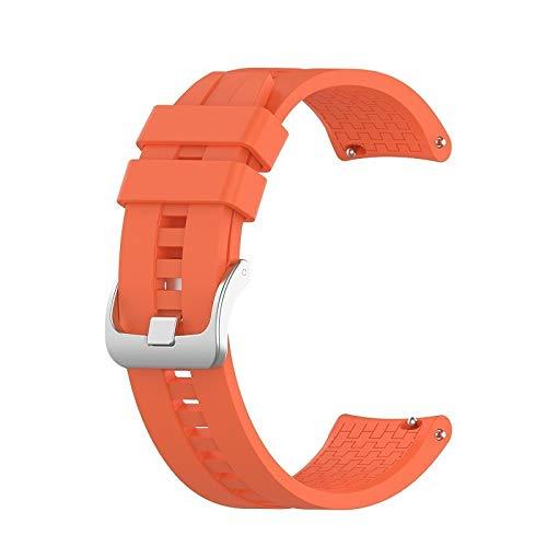 YGGFA Correa de muñeca de 22 mm para Huawei Watch GT GT2 de 42 mm y 46 mm para reloj inteligente, correa deportiva (color de la correa: naranja, ancho de la correa: para GT2 de 46 mm)