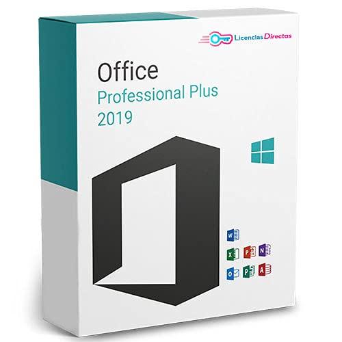Office 2019 Professional Plus Licencia Perpetua| | Factura y Licencia se enviarán físicamente a través de Correos, con copia virtual en mensajería de Amazon | Activación garantizada al 100%