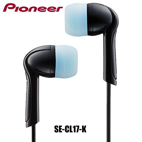Pioneer Stereo In-Ear Hoofdtelefoon/Oortelefoon met 5 verschillende maten Verwisselbare Zachte Silicon Oordoppen, 93dB, 3.5mm Jack, Zwart