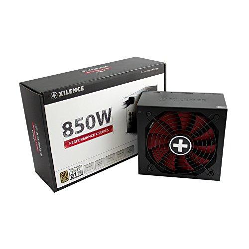 Xilence Performance X Serie | PC Netzteil | XN074 | 850 Watt | semi modular | 80+ Gold | rot/schwarz