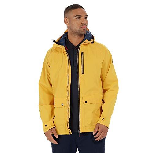 Chubasquero amarillo para hombre con capucha