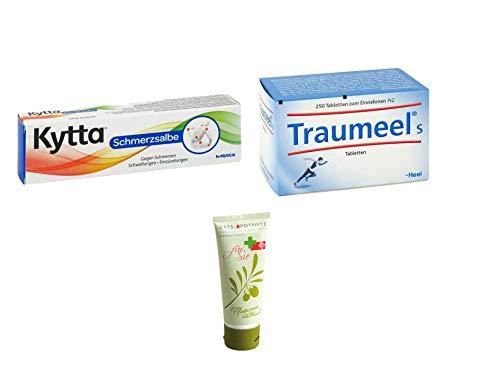 Sparset Schmerz - Kytta Schmerzsalbe 50g & Traumeel S Tabletten 250 St. Inkl. GRATIS Rats-Apotheke Olivenöl Pflegecreme