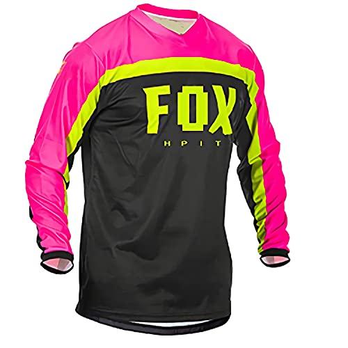 Fox MTB Jersey, Jersey de Descenso MTB Jersey Off Road Long Mountain Bike Motocross Jersey Camisa Ropa XS
