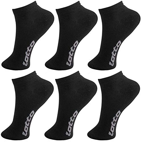 Lotto Socken Sneakers, Weiß, 6 Stück Gr. 39/42, Schwarz
