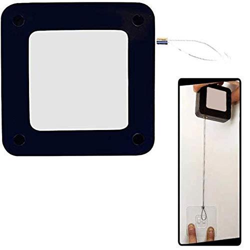 Bestine bez dziurkowania automatyczny czujnik samozamykacz drzwi, bez otworów klej automatycznie zamykający drzwi do większości drzwi, 2 kolory (czarny, biały (czarny)